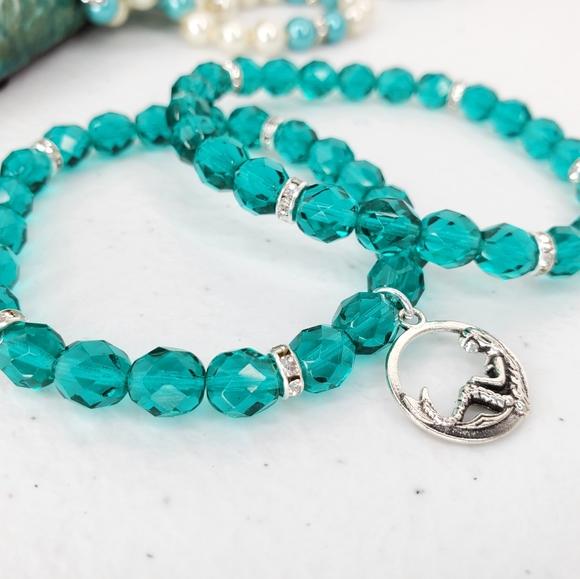 Chunky Charm Collection Mermaid Charm Bracelet